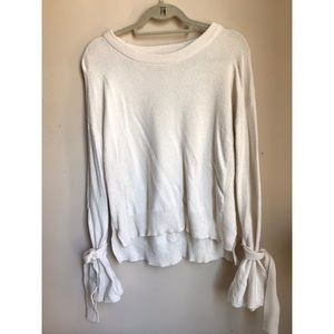 Madewell small bell sleeved sweater